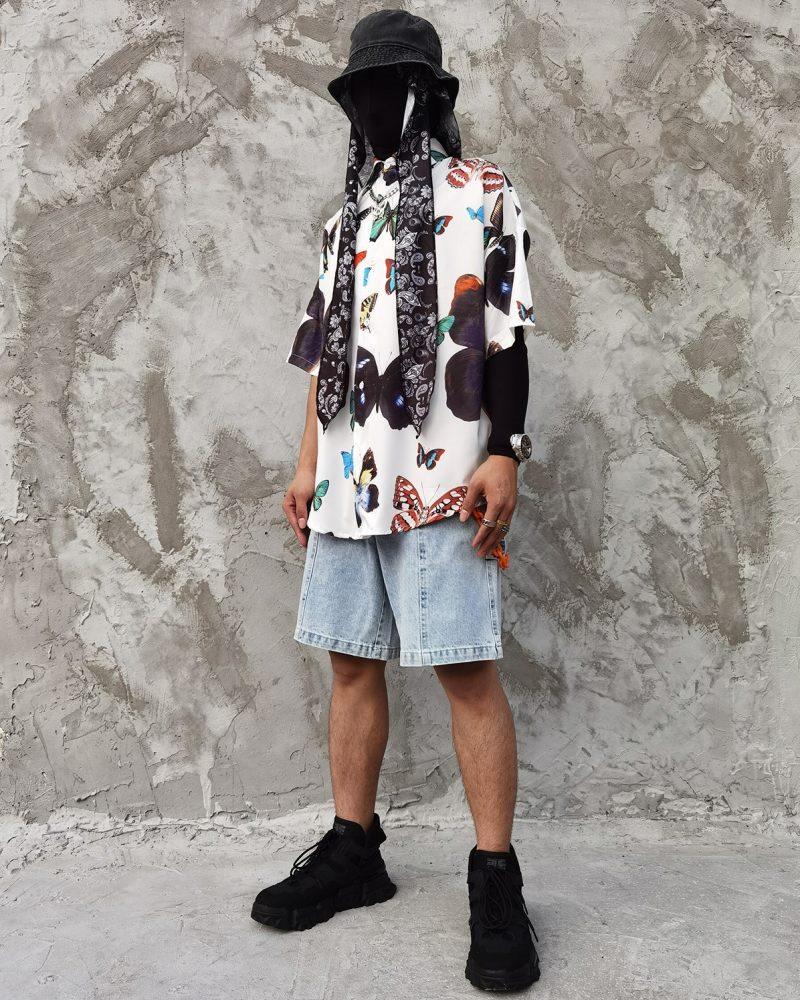 オーバーサイズバタフライ半袖シャツの画像6